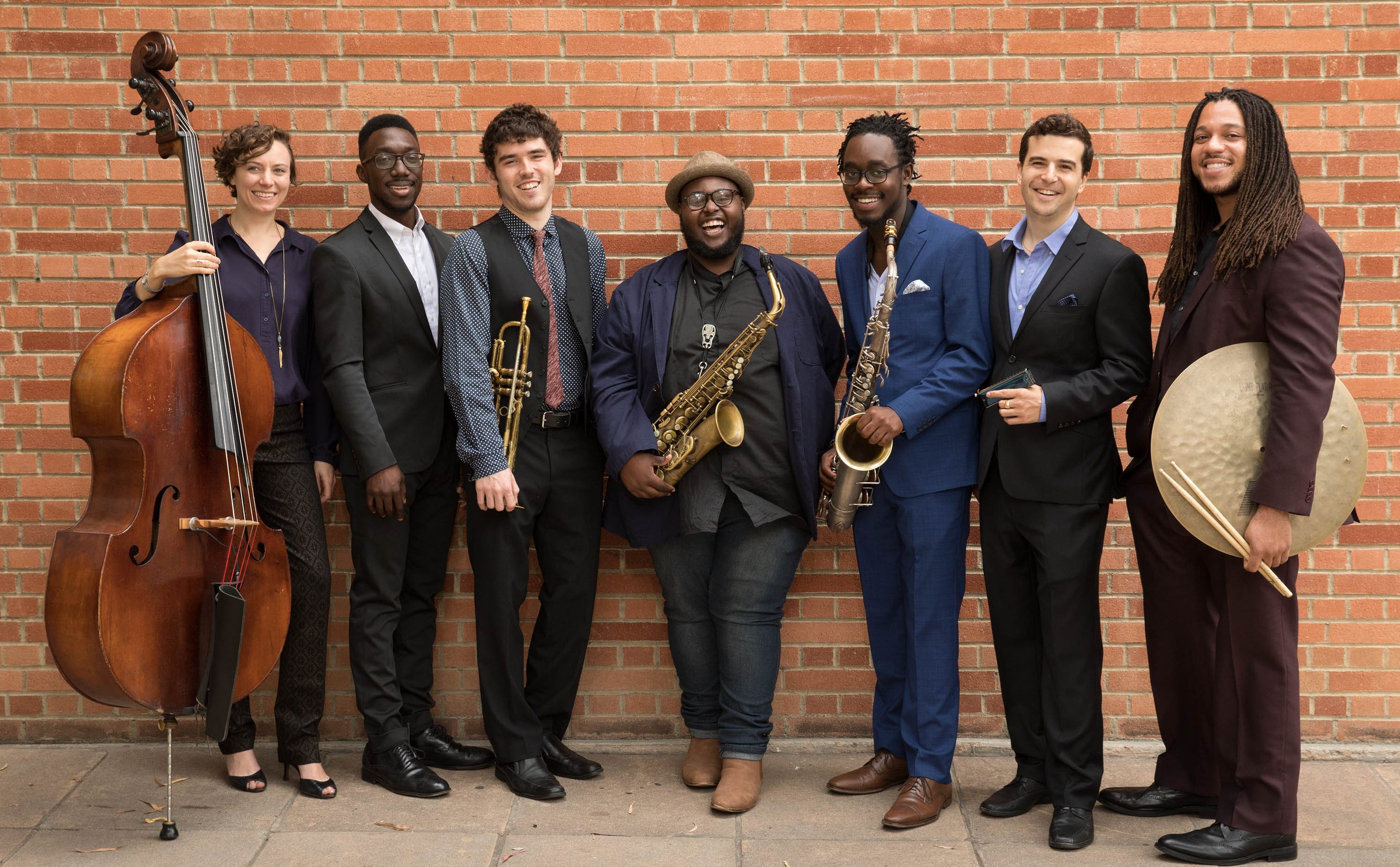 The Thelonious Monk Institute of Jazz Performance Class of 2020 (from left to right): Emma Dayhuff, Paul Cornish, Aidan Lombard, Lenard Simpson, Chris Lewis, Roni Eytan and Malachi Whitson